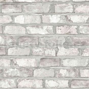 Vliesové tapety na zeď Exposed Warehouse cihla světle hnědá