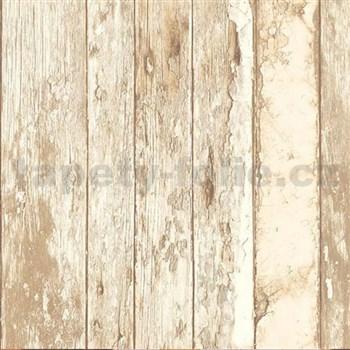 Vliesové tapety na zeď Splendour dřevěná prkna hnědo-béžové