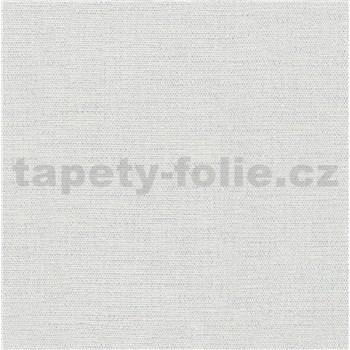 Luxusní vliesové tapety na zeď Avalon textilní struktura světle šedá