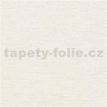 Luxusní vliesové tapety na zeď Avalon textilní struktura krémová