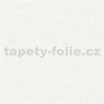 Luxusní vliesové tapety na zeď Avalon textilní struktura bílá