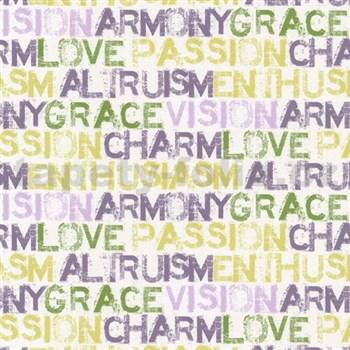 Papírové tapety na zeď Be You - characteristics žluto-fialové MEGA SLEVA