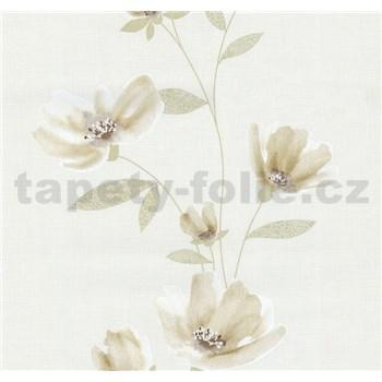 Vliesové tapety na zeď Blues květy světle hnědé