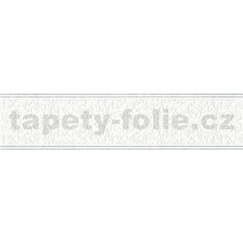 Vinylové bordury ornament drobný bílý 7 cm x 5 m