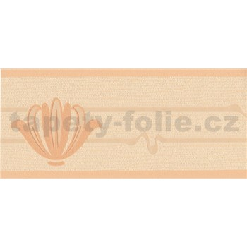 Vinylová bordura oranžová 13,3 cm x 5 m