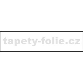 Samolepící bordury jednobarevná bílá 10 m x 4 cm
