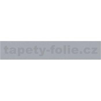 Samolepící bordury jednobarevná stříbrně šedá 10 m x 4 cm