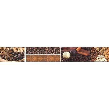 Samolepící bordura káva 5 m x 4,3 cm