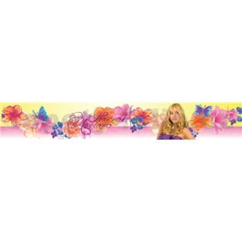 Bordura Hannah Montana s květy a motýli 5 m x 10,6 cm