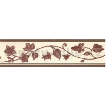Samolepící bordura - réva hnědá 5 m x 5 cm