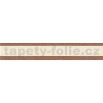Samolepící bordury pruhy hnědé 5 m x 5 cm