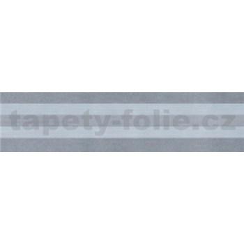 Samolepící bordura - proužky šedé 5 m x 5 cm