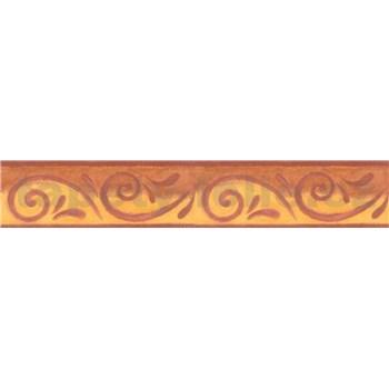 Bordura antický vzor žlutohnědý 5 m x 10,6 cm