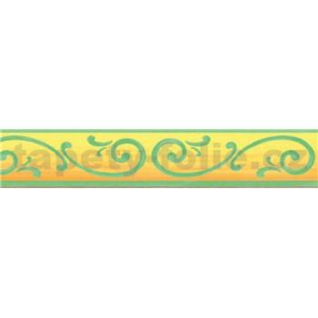 Bordura renesanční vzor zelený 10 m x 5 cm