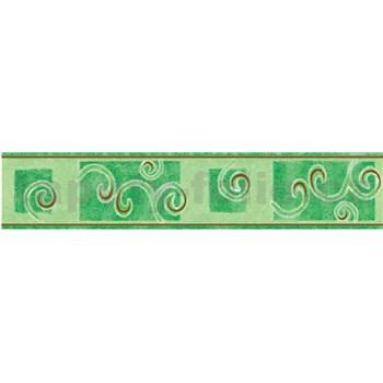 Bordura spirály zelené 10 m x 5 cm