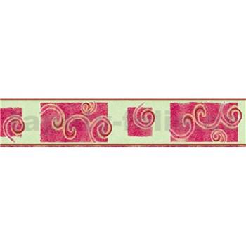 Bordura spirály růžové 10 m x 5 cm