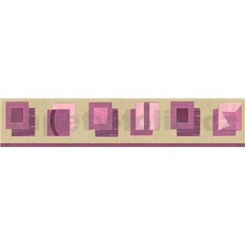Bordura kostky fialové 10 m x 5 cm