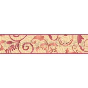 Bordura listy oranžovo-červené 5 m x 7 cm