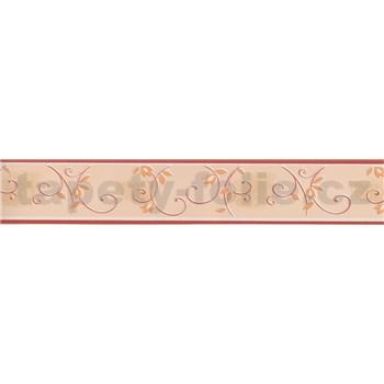 Moderní bordura - popínavé stonky - červená 5 m x 4,5 cm