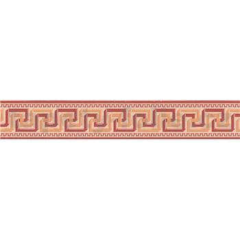 Moderní bordura s řeckým vzorem - červená