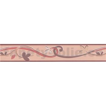 Moderní bordura popínavé lístky - hnědá 5 m x 4,5 cm