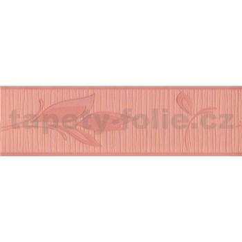 Vinylová bordura květy růžové 5 m x 8,5 cm