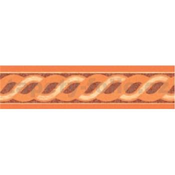 Samolepící bordura vlnovky oranžové 10 m x 5,3 cm
