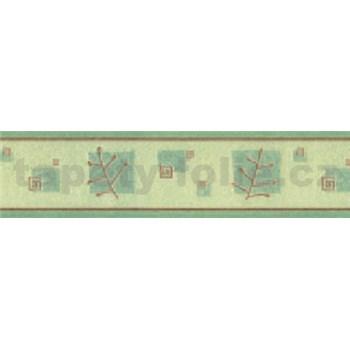 Samolepící bordura větvičky zelené 10 m x 5,3 cm