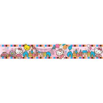 Bordura dětská 5 m x 10,6 cm Hello Kitty celebration