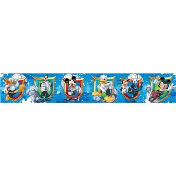 Bordura dětská 5 m x 10,6 cm Mickey Mouse, Donald, Goofy
