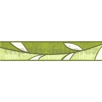 Samolepící bordura lístky zelené 5 m x 5,8 cm