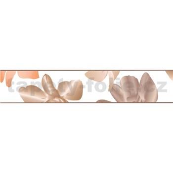 Samolepící bordura květinky hnědé 5 m x 5,8 cm