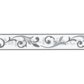 Samolepící bordura ornamenty šedé 5 m x 5,8 cm