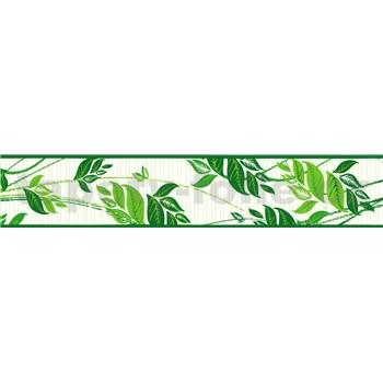 Samolepící bordura pnoucí listy zelené 5 m x 5,8 cm