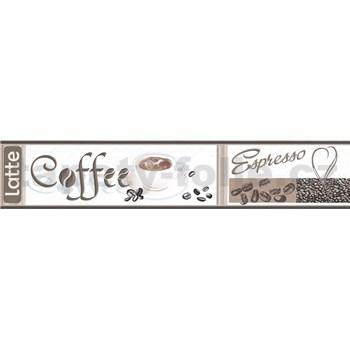 Samolepící bordura Coffee 5 m x 5,8 cm