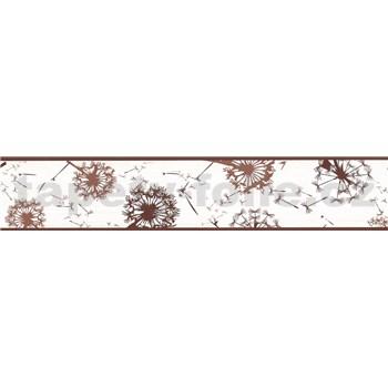 Samolepící bordura pampelišky hnědé 5 m x 5,8 cm