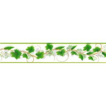 Samolepící bordura vinná réva zelená 5 m x 5,8 cm