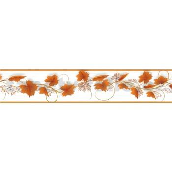 Samolepící bordura vinná réva hnědá 5 m x 5,8 cm