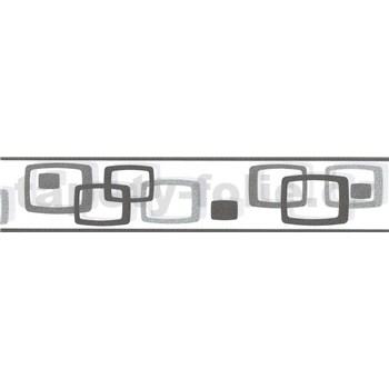 Samolepící bordura oválky šedo-černé 5 m x 5,8 cm