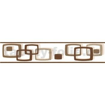 Samolepící bordura oválky hnědo-béžové 5 m x 5,8 cm