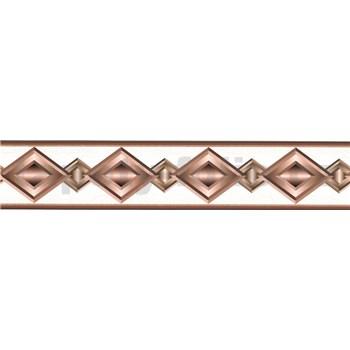 Samolepící bordura geometrický vzor hnědý 5 m x 5,8 cm