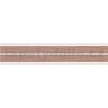 Samolepící bordura pruhy hnědo-béžové 5 m x 5,8 cm