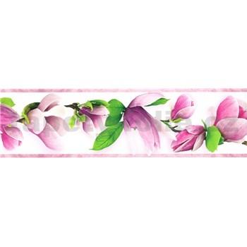 Samolepící bordura větve s květy fialové 5 m x 8,3 cm