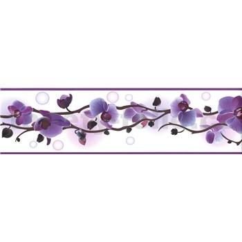 Samolepící bordura orchidej fialová 5 m x 8,3 cm