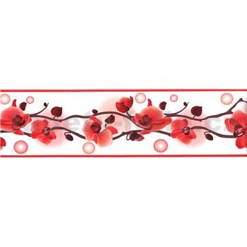 Samolepící bordura orchidej červená 5 m x 8,3 cm