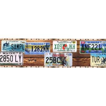Samolepící bordura poznávací značky aut 5 m x 8,3 cm