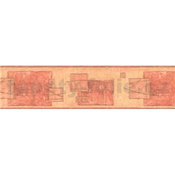 Samolepící bordura cubes hnědé 10 m x 5,3 cm