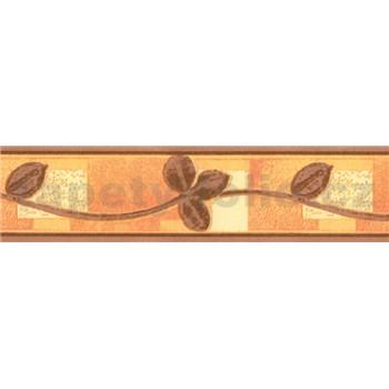 Samolepící bordura listy hnědé 10 m x 5,3 cm