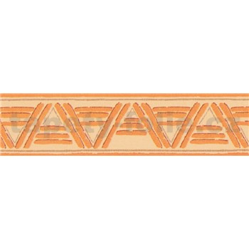 Samolepící bordura lines oranžové 10 m x 5,3 cm