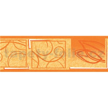 Samolepící bordura natural oranžová 5 m x 6,9 cm